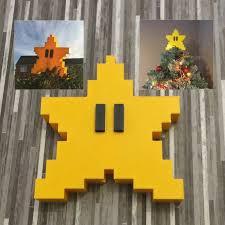 Retro Super Mario Star Tree Topper This 8bit Christmas