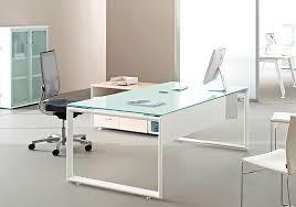 bureau en verre bureau direction en verre trempé et pieds métal nommé arctic