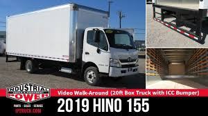 100 20 Ft Box Truck 19 HINO 155 Ft With ICC Bumper Hino Review