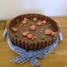 wilde sauerei mousse au chocolat torte als schlammteich