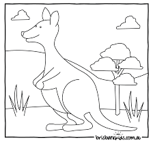 Australian Animals Colouring Pages O Brisbane Kids