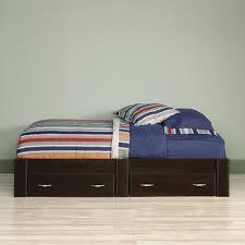 Simple Platform Bed With Drawers by Sauder Beginnings Twin Platform Bed Cinnamon Cherry Walmart Com