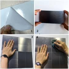 Metal Adhesive Backsplash Tiles by Peel And Stick Metal Mosiac Sheets For Backsplash 12in X 12in 10