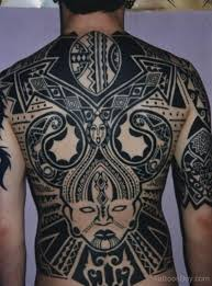 African Tattoo On Back Body TB1035