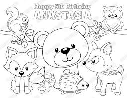 Woodland Animals Coloring Pages 9 Forest Pictures With AnimalsForestFree Printable