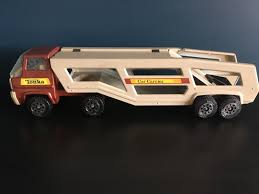 Vintage Tonka Metal Car Carrier Truck Trailer Toy Two-pieces For ...