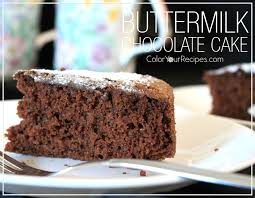 Color Your Recipes – Buttermilk Chocolate Cake