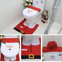 sonstige 3tlg weihnachtsmann badezimmer toilettenmatte
