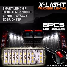 8pc Waterproof Pickup Truck Bed Light Kit LED Lighting Accessories ... Aura Led Truck Bed Strip Lighting Kit Rgbw Multicolor Full 2 X 60 Smart Rgb Lights W Soundactivated Function Truxedo Blight Battery Powered Light Bluewater Under Rail Standard Bw Heavy Hauler 2pcs Rock 48 Leds 8 White Square Switch Xprite How To Install Access Youtube Multi Color Super Bright Work 8pcs 2009 2014 Ingrated F150ledscom Amazoncom Homeyard 2pcs Tailgate Cargo 8pc Waterproof Pickup Accsories