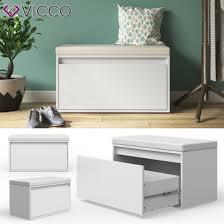 vicco sitzbank iker schuhbank weiß schuhschrank sitzfläche stauraum sitztruhe
