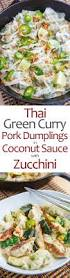Thai Green Pumpkin Curry Recipe by Thai Green Curry Pork Dumplings In Coconut Sauce With Crispy Fried
