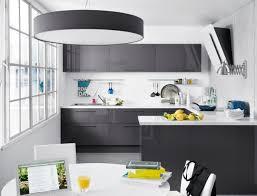 cuisine gris et noir deco cuisine gris et blanc élégant deco cuisine gris et noir