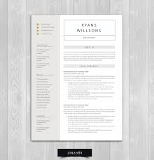 100 Resume Two Pages Minimal Resume CV Template For Word Pages Resume Etsy