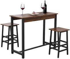 Bizzoelife Counter Height Table Chair Set Kitchen Dining Breakfast Pub  Table With 2 Bar Stool Chair