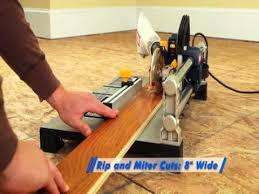 Cut Laminate Flooring With Miter Saw by Ryobi 5