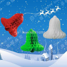 Cheap Wedding Decorations Online by Wholesale Decorative Jingle Bell Paper Honeycomb Bells Tissue