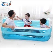 Portable Bathtub For Adults Online India by Free Shipping Size 152 108 60cm With Electric Pump Inflatable