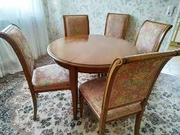 sitzgruppe runder tisch mit 5 stühlen