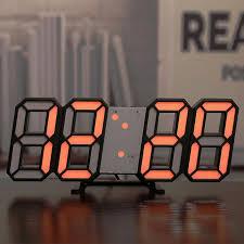 3d digitale wanduhr led digital schreibtisch uhr desktop wecker digitale uhr wohnzimmer dekoration wanduhr sound
