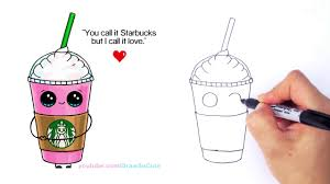 1280x720 How To Draw A Starbucks Frappuccino Cute Step By Cartoon