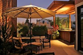 Outdoor Bar Lighting Ideas Patio Modern With Bench Wood Trellis Chair