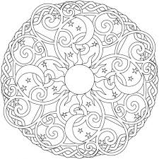 The Sun And Moon Mandala Colouring Page