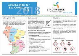 abfallkalender für bad oeynhausen 2018