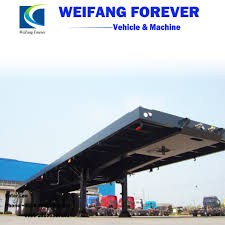 100 Tnt Truck Parts China Hot Sales 50t 3 Axles 40 Feet Container Flat Bed Semi
