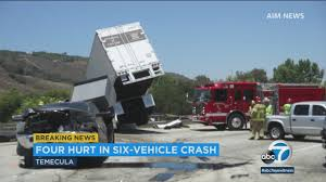 4 Injured In 6-vehicle Crash On 15 Freeway In Temecula | Abc7.com Napa Ca Injuries And Damage Sustained In Crash On Highway 128 At Truck Accident Attorneys Spartanburg Holland Usry Pa Man Dies Crash Between Vehicle Fedex Truck I880 Oakland Sthbound 101 Reopens After Fatal San Jose Cbs Accident Youtube Slime Eels Explode Bizarre Traffic Lawyer Rendo Beach Big Rig South Bay Attorney Semitruck Dolman Law Group Concrete Pump Accidents Austin Tx Cstruction Injury Ambulance Fire Royaltyfree Video Stock Footage Update Victims Of Fatal 11 Identified Woman The N1 Is Now Open Following Hror Review