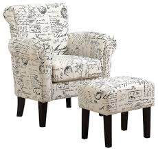 Monarch Fabric Script Accent Chair With Ottoman, Off White And Black French Coaster Fniture Off White French Script Accent Chair Adwisly Amazoncom Safavieh Normal Offwhite Samdecors Sky Wing Off Design Lounge Cafetaria Patio Solid Wood Walnut Finish Legs Trends And Adele Country Myco 8762 8760 Rustic Cotton Arm Oadeer Home Kitchen Ding Casual Couture High Line Collection Alena Polyester Blend