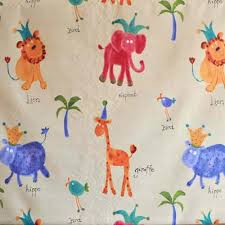 Fabrics For Curtains Uk by Hip Hippo Ray Antique Hippo Animal Fabric In Antique Kids Fabric
