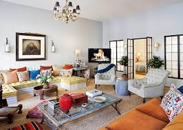 Full Size Of Furnitureeclectic Living Room Decorating Ideas With Orange Sofa And White Wall Large