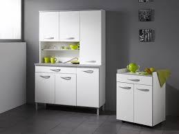 meuble micro onde cuisine meuble desserte micro ondes l60xp44 5xh81 5cm idea blanc