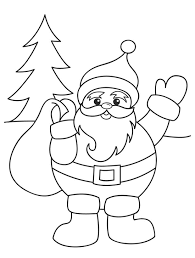 Santa Claus Christmas Coloring Pages For Preschool Kids