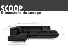 canapé d angle noir cdiscount trouver canape d angle scoop