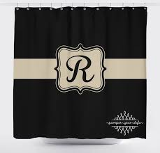 Yellow And White Curtains Etsy by Best 25 Monogram Shower Curtains Ideas On Pinterest 84 Shower