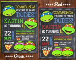 Ninja Turtle Decorations Nz by Ninja Turtles Etsy