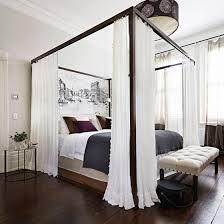 Romantic Bedroom With Four Poster Curtained Bed