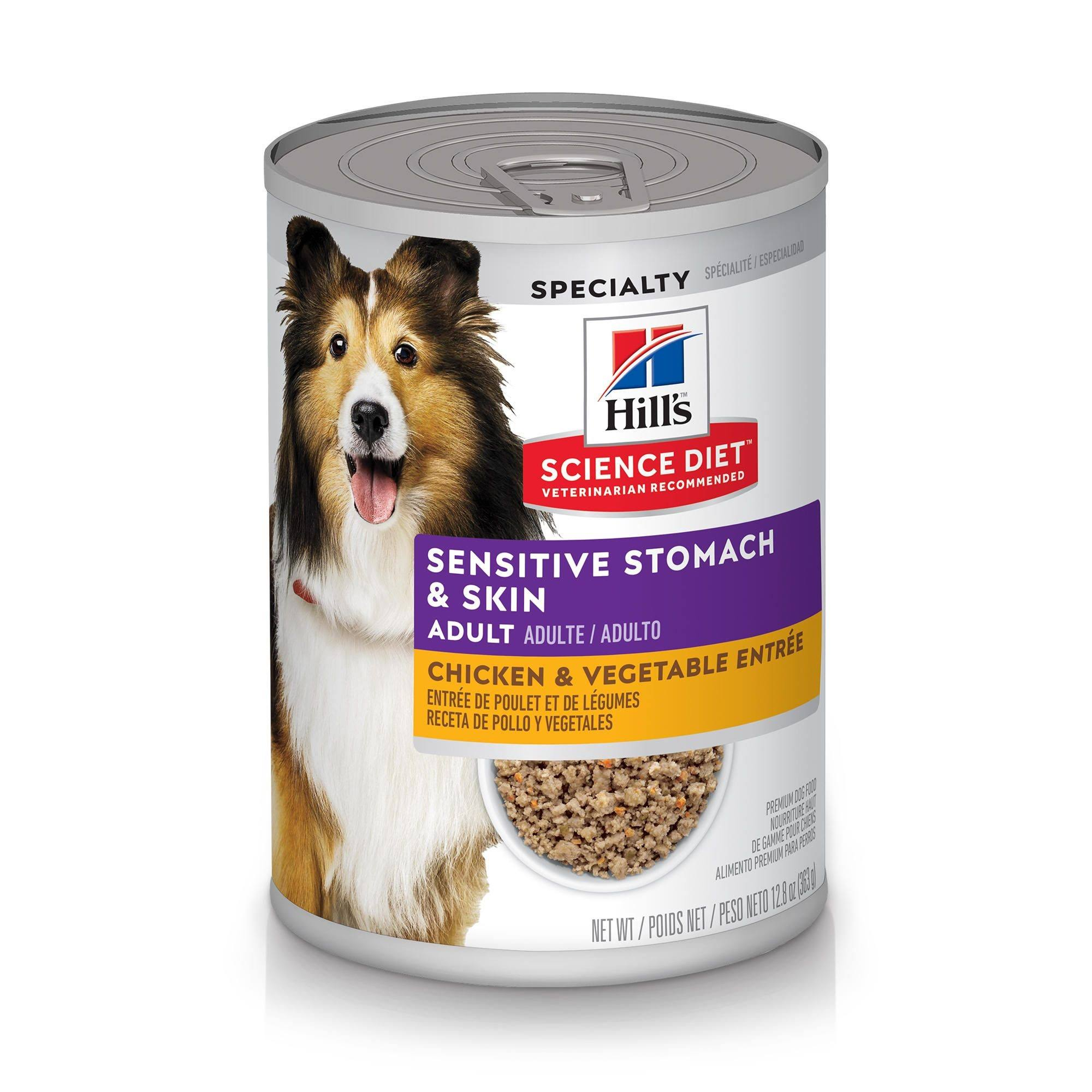 Science Diet Adult Sensitive Stomach & Skin Chicken & Vegetable Entree Wet Dog Food