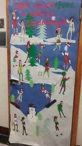 50 Innovative Classroom Door Christmas Decoration Ideas For School
