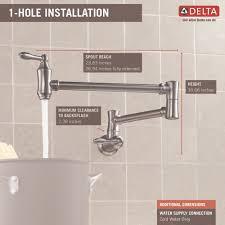 Delta Floor Mount Tub Filler T4797 by Delta Faucet 1177lf Pn Traditional Polished Nickel Pot Filler