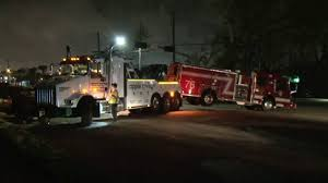 100 Houston Tow Truck Driver Crashes Into Tow Truck Hauling Brokendown Fire Truck