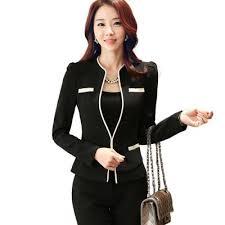 vetement de bureau automne ol femmes pantalon costume de vêtements de mode plus la