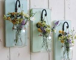 Hanging Mason Jar Wall Sconce Candle Holder Rustic Home Farmhouse Cottage Decor Wood Shutter Barn Door