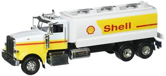 Joy City 1:32 Working Trucks Peterbilt Model 367 Shell Tanker ...