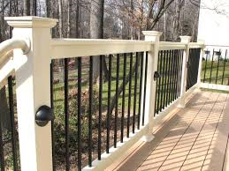 Garden Ideas : Deck Rail Ideas How To Get The Best Deck Railing ... 24m Decking Handrail Nationwide Delivery 25 Best Powder Coated Metal Fencing Images On Pinterest Wrought Iron Handrails How High Is A Bar Top The Best Bars With View Time Out Sky Awesome Cantilevered Deck And Nautical Railing House Home Interior Stair Railing Or Other Kitchen Modern Garden Ideas Deck Design To Get The Railings Archives Page 6 Of 7 East Coast Fence Exterior Products I Love Balcony Viva Selfwatering Planter Attractive Home Which Designs By Fencesus Also Face Mount Balcony Alinum Railings 4 Cityscape