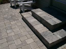 Exterior: Casual Outdoor Flooring Design Using Grey Paver Patio ... Landscape Steps On A Hill Silver Creek Random Stone Steps Exterior Terrace Designs With Backyard Patio Ideas And Pavers Deck To Patio Transition Pictures Muldirectional Mahogony Paver Stairs With Landing Google Search Porch Backyards Chic Design How Lay Brick Paver Howtos Diy Front Good Looking Home Decorations Of Amazing Garden Youtube Raised Down Second Space Two Level Beautiful Back Porch Coming Onto Outdoor Landscaping Leading Edge Landscapes Cool To Build Decorating Best