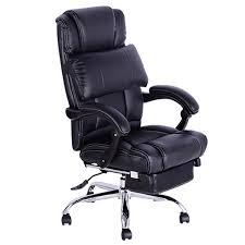fauteuil bureau inclinable homcom chaise de bureau luxe manager pivotant inclinable hauteur