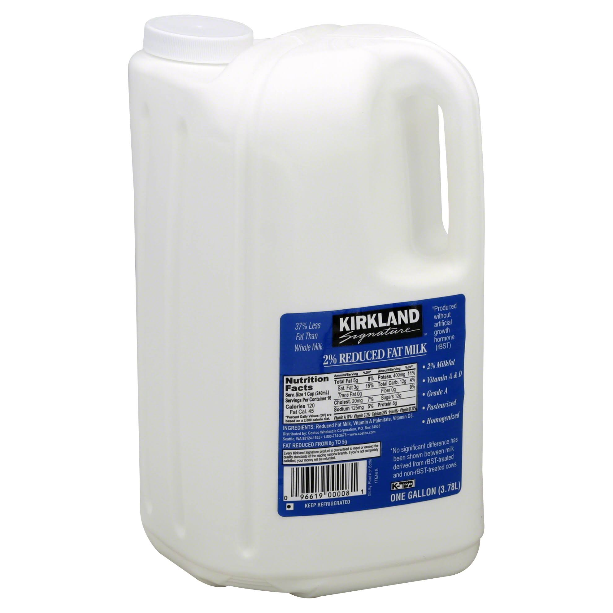 Kirkland Signature Milk, Reduced Fat, 2% Milkfat - 1 gl (3.78 lt)