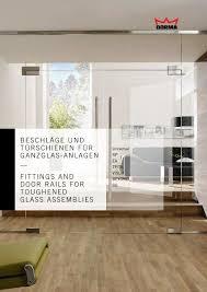 beschläge und türschienen für ganzglas anlagen